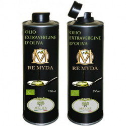 "Olio extravergine di Oliva Biologico ""Re Myda"" 500ml - Categoria superiore"